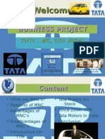 Mnc, Tata Motors Ppt Sg