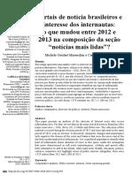 Portais de notícia brasileiros e interesse dos internautas