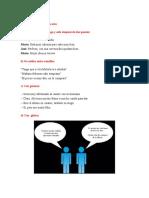 Ejemplos de Discurso Directo