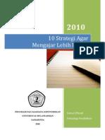 10 Strategi Agar Mengajar Lebih Efektif