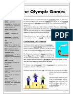 Olympic Games Text Exercises