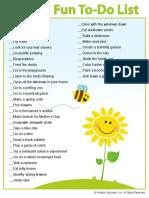 Spring Fun Checklist