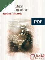 El Hombre y Lo Sagrado - Roger Caillois