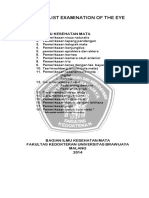 CHECK LIST Examination of the Eye 2014