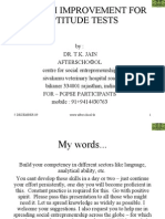 English Improvement for Aptitude Tests