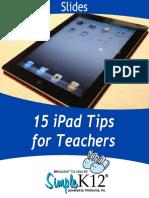 15 ipad tips