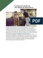 Diez Consejos Para Usar Jaulas de Seguridad Para Inflado de Neumáticos