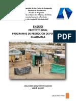 Analisis de La Estrategia Para La Reduccion de La Pobreza en Guatemala