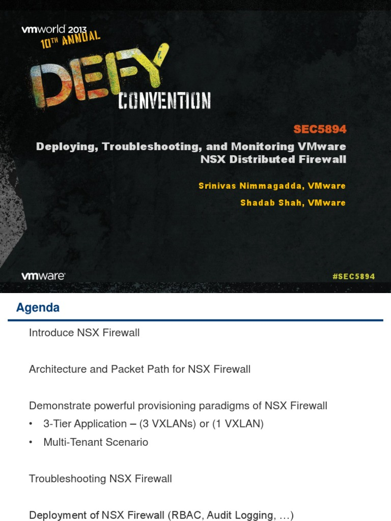 VMWorld 2013 - Deploying, Troubleshooting, And Monitoring