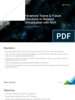 VMWorld 2014 - Advanced Topics & Future Directions in Network Virtualization With NSX