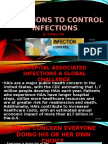 10 options to control Hospital infections by Dr.T.V.Rao MD