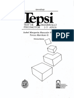 Test de Desarrollo Psicomotor TEPSI