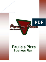 Busines Plan Paulies Pizza