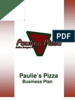 Busines Plan Paulies Pizza