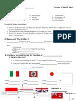 Causes of World War II Nearpod Notes