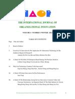 International Journal of Oganiatonal Innovation Vol4Num3