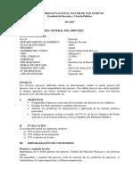 Sillabus Derecho procesal