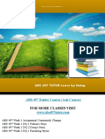 ABS 497 TUTOR Learn by Doing