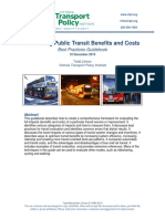 Evaluating Public Transit Benefits and Costs