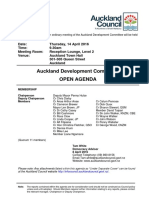 Auckland Development Committee Agenda - April 16