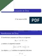 Ecuaciones de Dirac