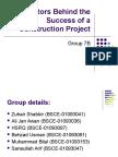 9. Factors of Project Success
