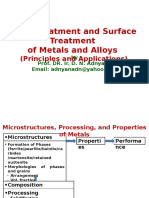 Heat Treatment and Surface Treatment of Ferrous Metals An