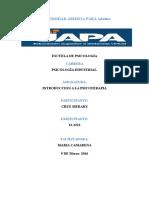 Introduccion a La PsicoTERAPIAmerary Tarea 1
