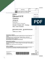 Unit 5 Jan 2009 QP Chemistry Edexcel