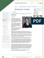 368. Burdett House; Angela Burdett Coutts at UK Philanthropy