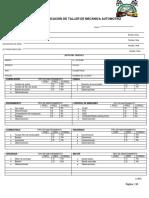 Lista de Verificación de Taller de Mecánica Automotriz Nueva