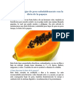 Aprende a bajar de peso saludablemente con la dieta de la papaya