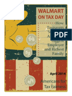 Walmart on Tax Day Americans for Tax Fairness 1