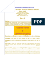 Essential Terms and Condition of Dyeing Part 2