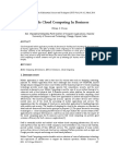 Mobile Cloud Computing In Business