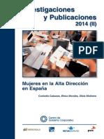 Mujeres en La Alta Dirección en España2015