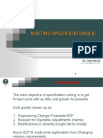 Writing Specifications Presentation(I)-Revised