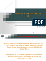 Writing Specifications II Revised