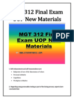 MGT 312 Final Exam UOP New Materials