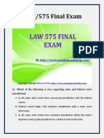 UOP LAW 575 Final Exam Latest Assignment