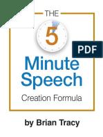 5 Minute Speech PDF