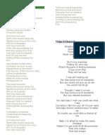 Lyrics of Pumapag-ibig