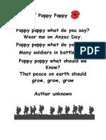 poppy poppy anzac poem
