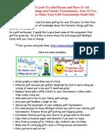 Golf Mulligans--Free Mulligan Golf Cards