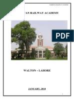 PAKISTAN RAILWAY ACADEMY, WALTON , LAHORE,  PAKISTAN
