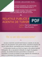 Relatiile Publice in Agentia de Turism Ifrim Florentina