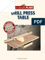 Drill Press Table Plan