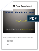 UOP LAW 421 Final Exam Question With Answers Assignment