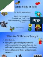 Organic Gardening - Introductory Study of Soils