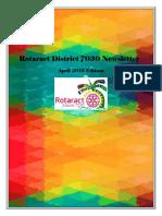 District Newsletter April 2016 (English)